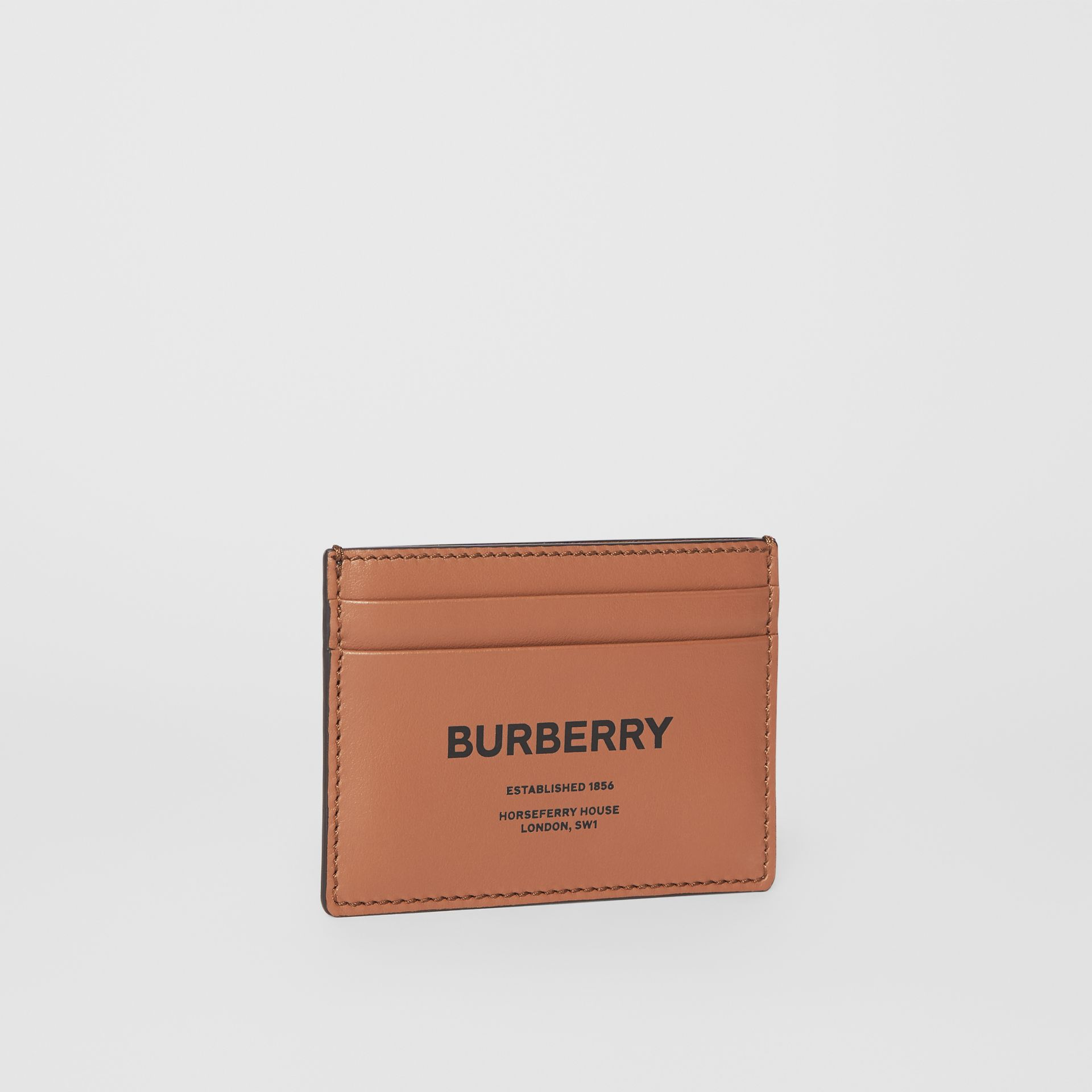Horseferry Print Leather Card Case in Malt Brown - Men | Burberry United Kingdom - gallery image 3