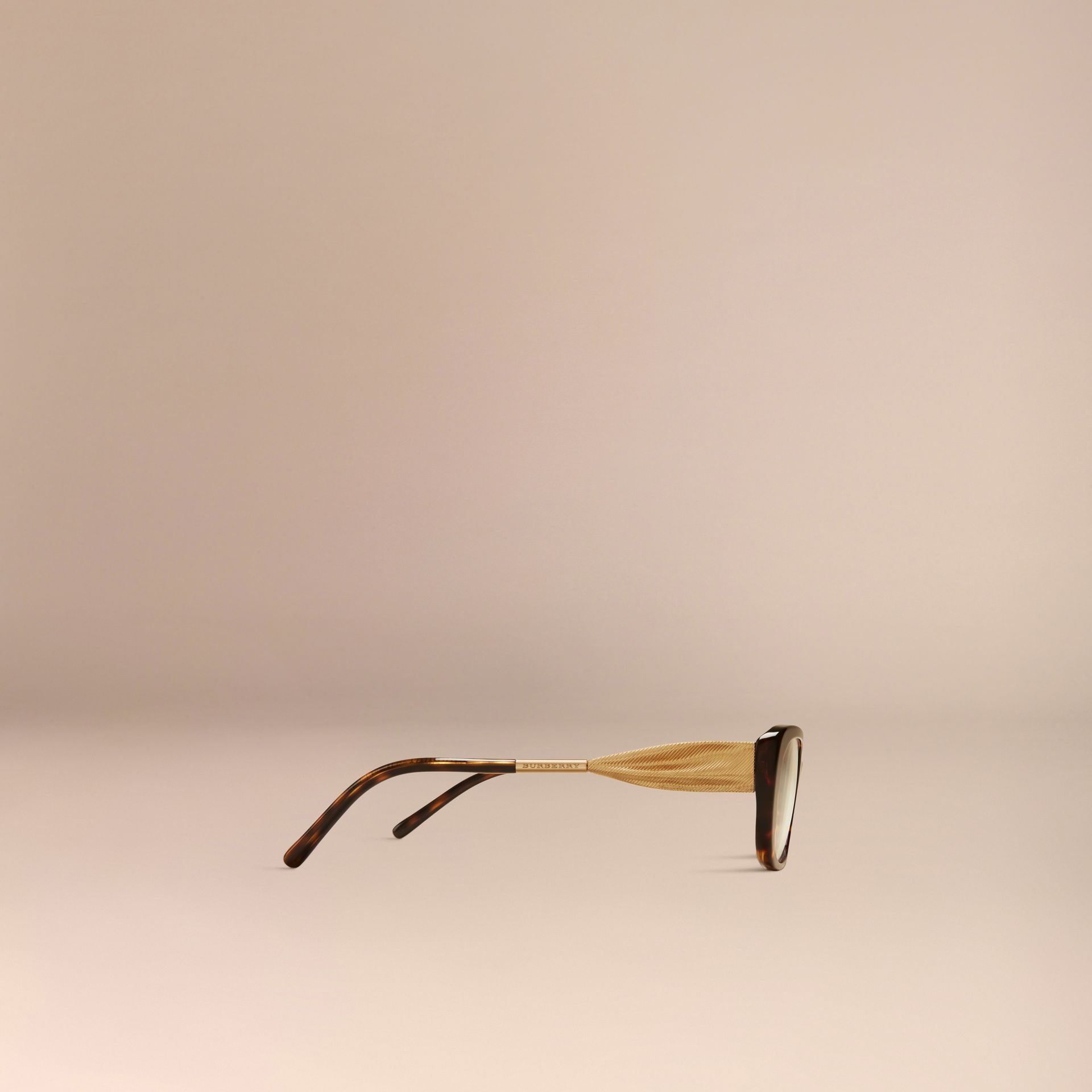 Tortoise shell Gabardine Collection Oval Optical Frames Tortoise Shell - gallery image 5