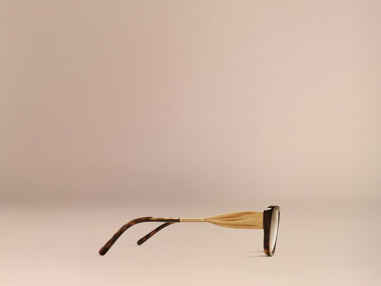 Gabardine Collection Oval Optical Frames in Tortoise Shell - cell image 4