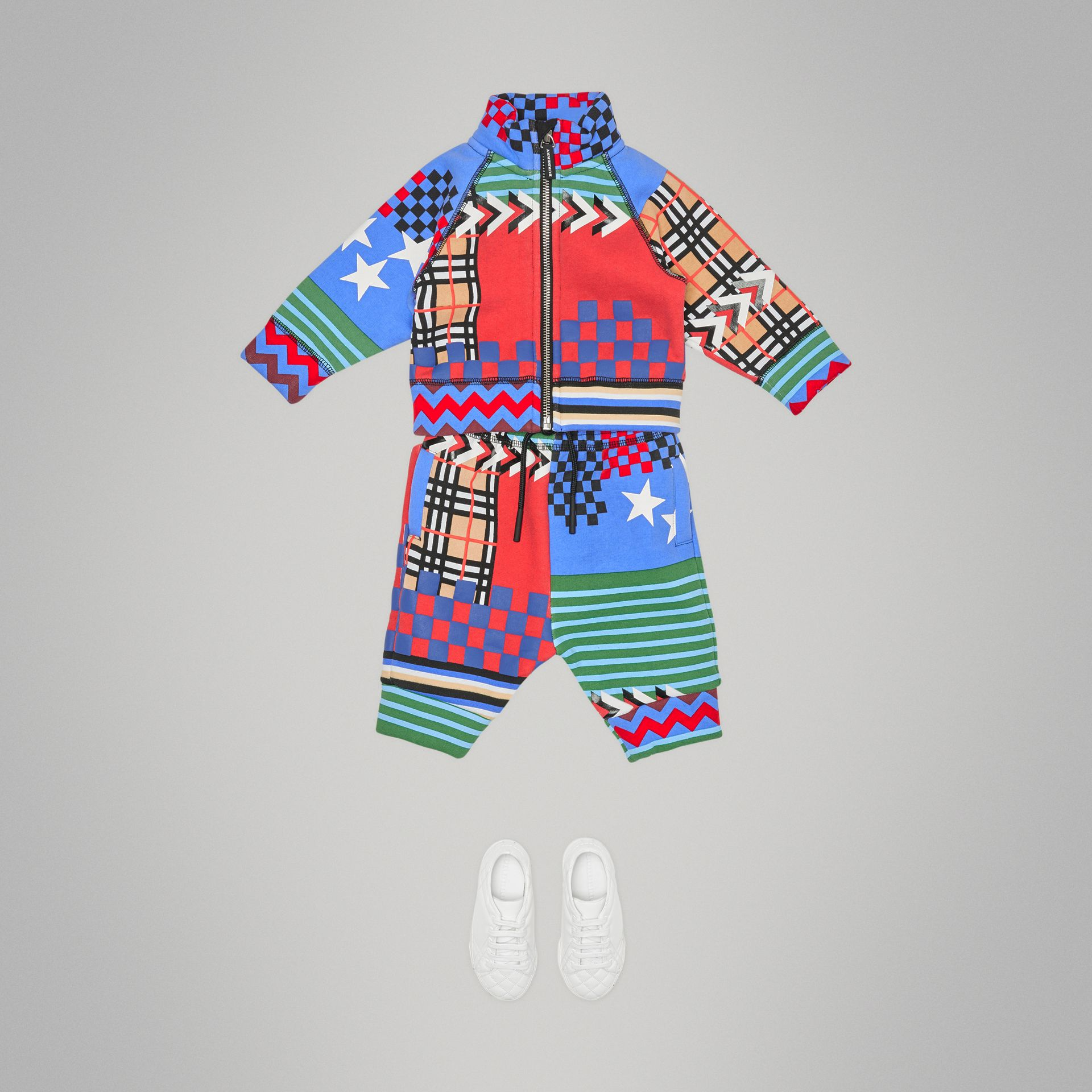 Graphic Print Jersey Track Top in Multicolour - Children | Burberry United Kingdom - gallery image 2