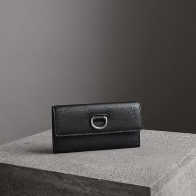 D-RING GRAINY LEATHER CONTINENTAL WALLET