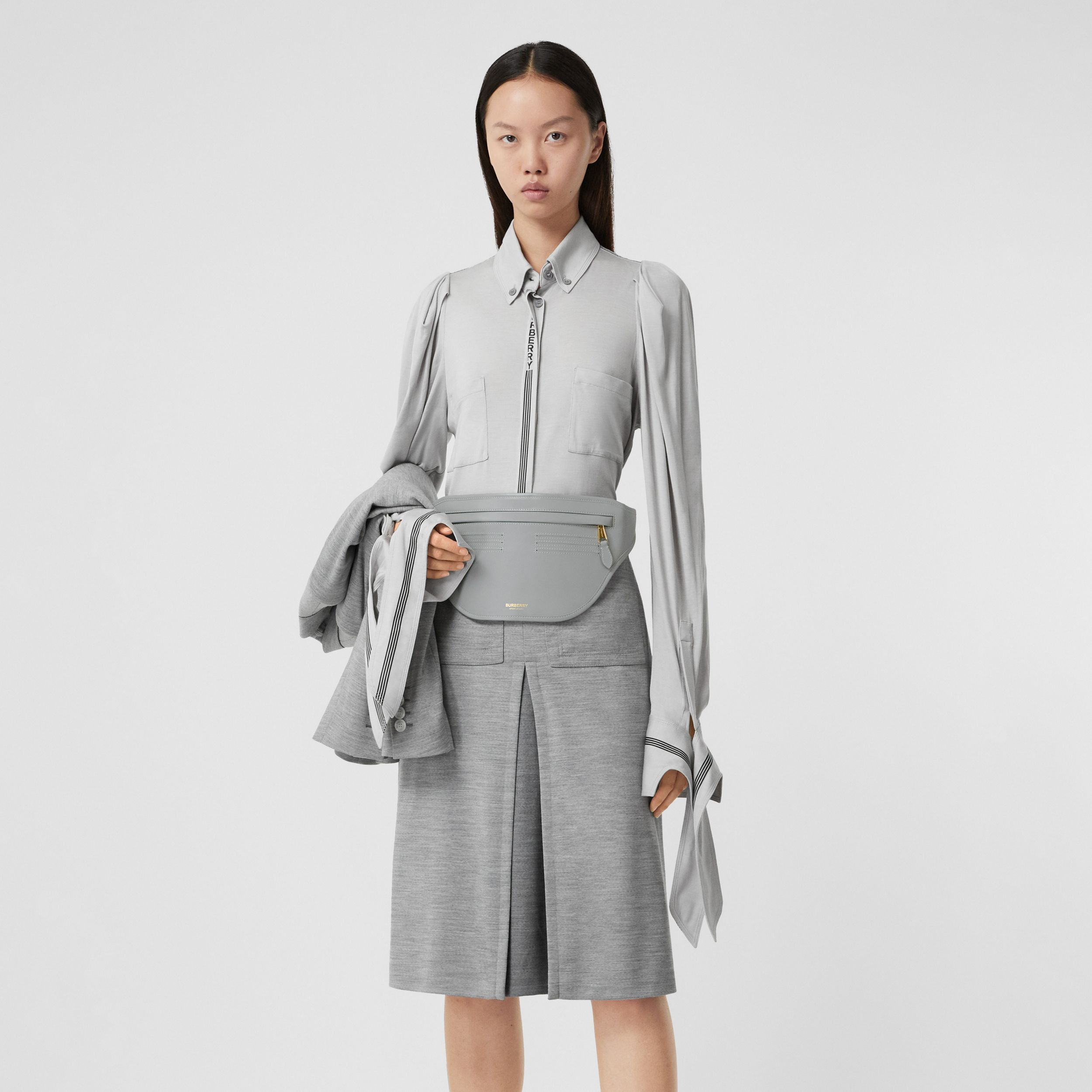 Leather Brummell Bum Bag in Cloud Grey | Burberry Hong Kong S.A.R. - 3