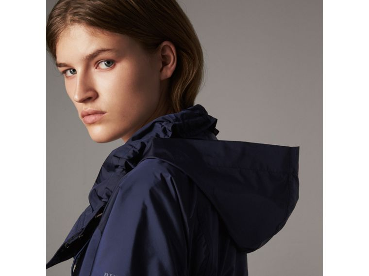 Packaway Hood Lightweight Rain Jacket in Bright Navy - Women | Burberry Singapore - cell image 1
