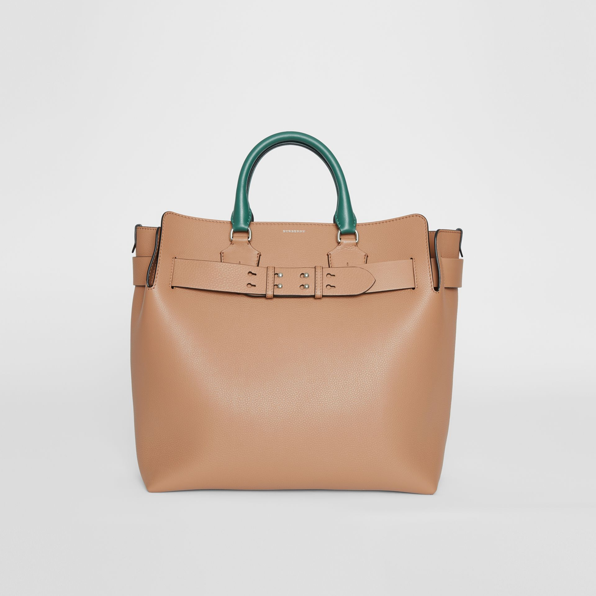 The Large Tri-tone Leather Belt Bag in Light Camel | Burberry Australia - gallery image 0