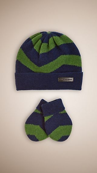 Cashmere Hat and Mittens Baby Gift Set