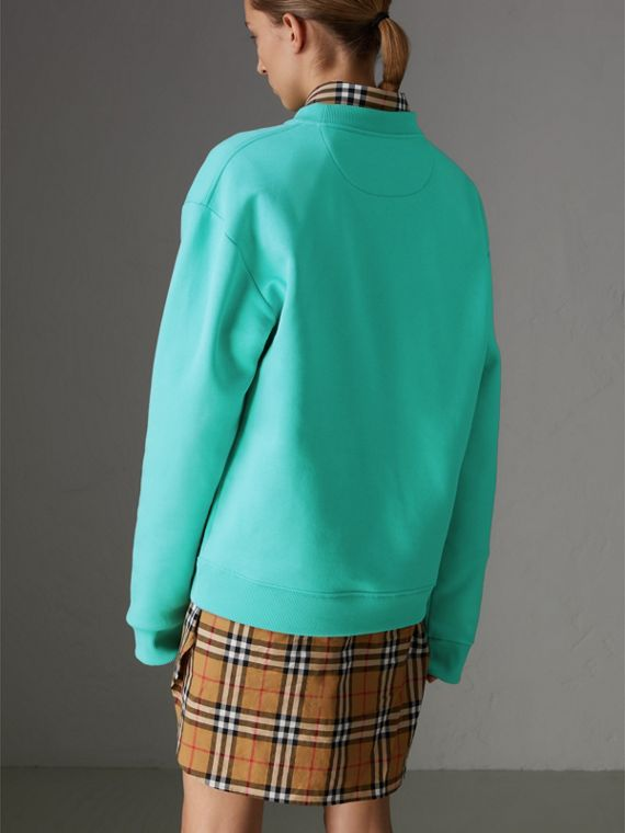 Reissued Jersey Sweatshirt in Aqua - Women | Burberry - cell image 2