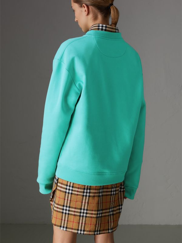 Reissued Jersey Sweatshirt in Aqua - Women | Burberry Singapore - cell image 2