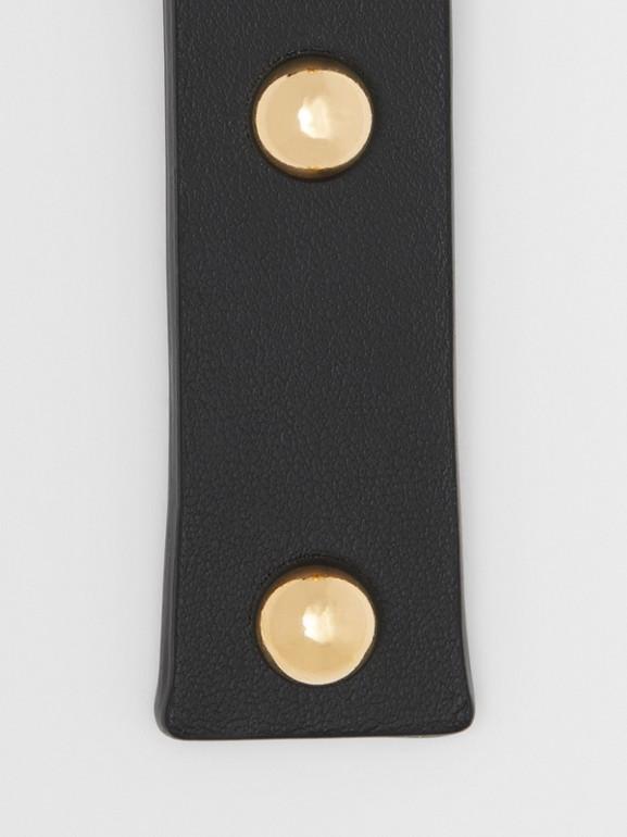 「I」鉚釘皮革字母吊飾 (黑色/淺金色) - 女款 | Burberry - cell image 1