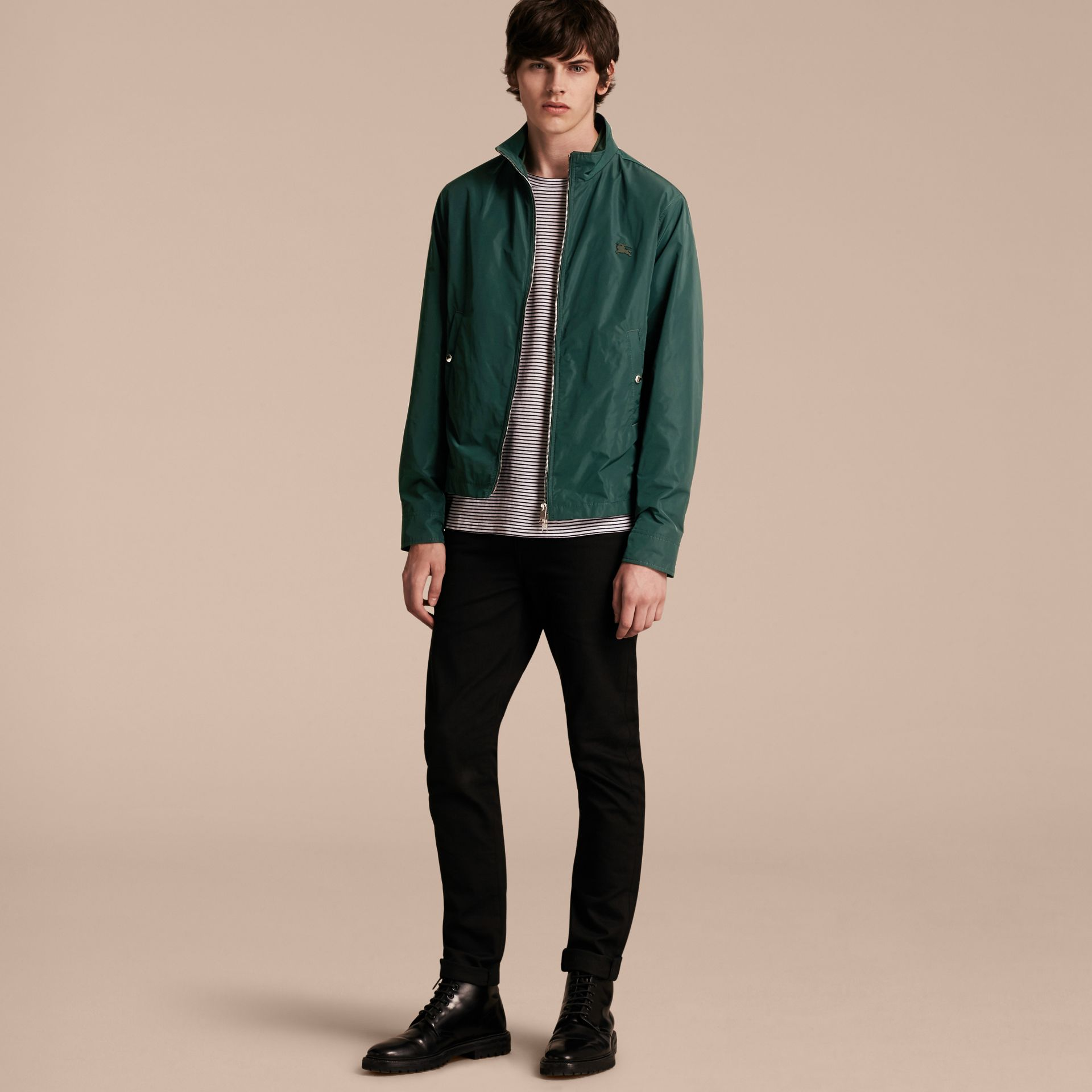 Lightweight Technical Jacket in Racing Green - Men | Burberry - gallery image 13