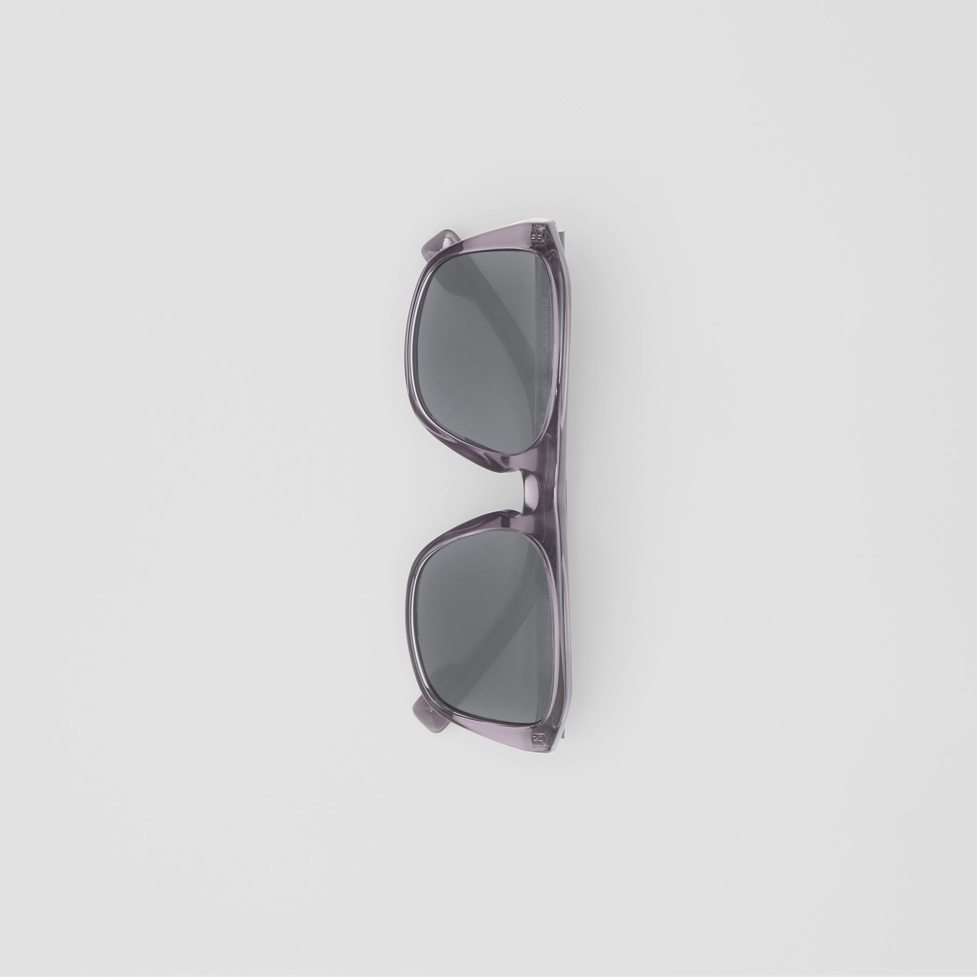 Square Frame Sunglasses in Grey - Men | Burberry United Kingdom - gallery image 3