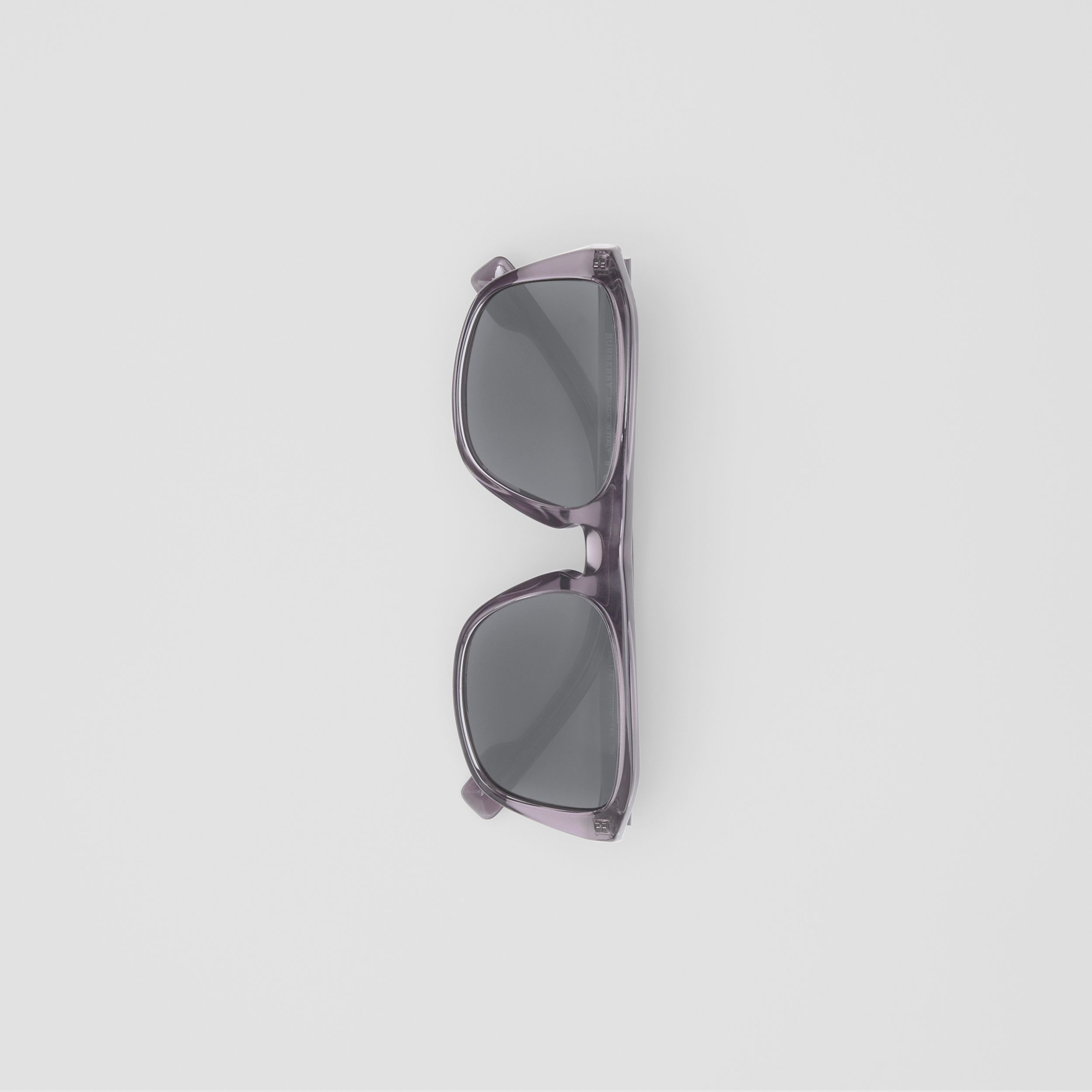 Square Frame Sunglasses in Grey - Men | Burberry Singapore - 4
