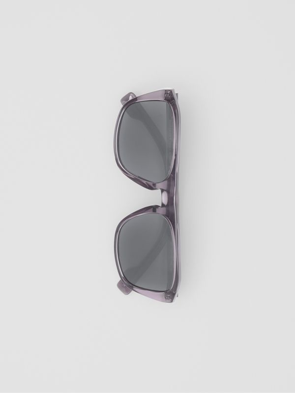 Square Frame Sunglasses in Grey - Men | Burberry United Kingdom - cell image 3