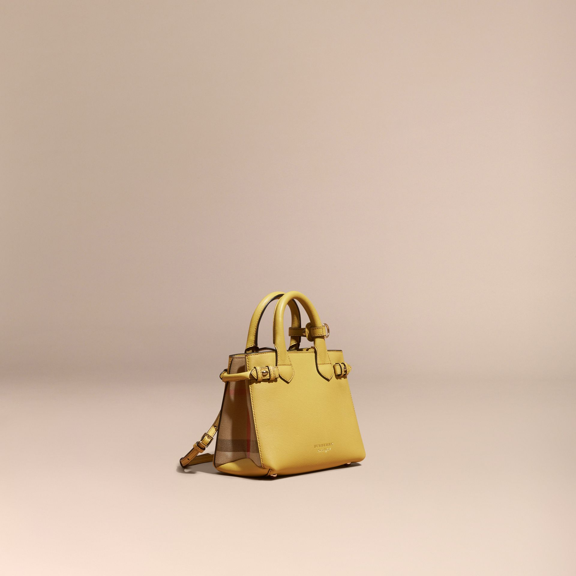 The Baby Banner en cuir et coton House check - Femme | Burberry - photo de la galerie 1