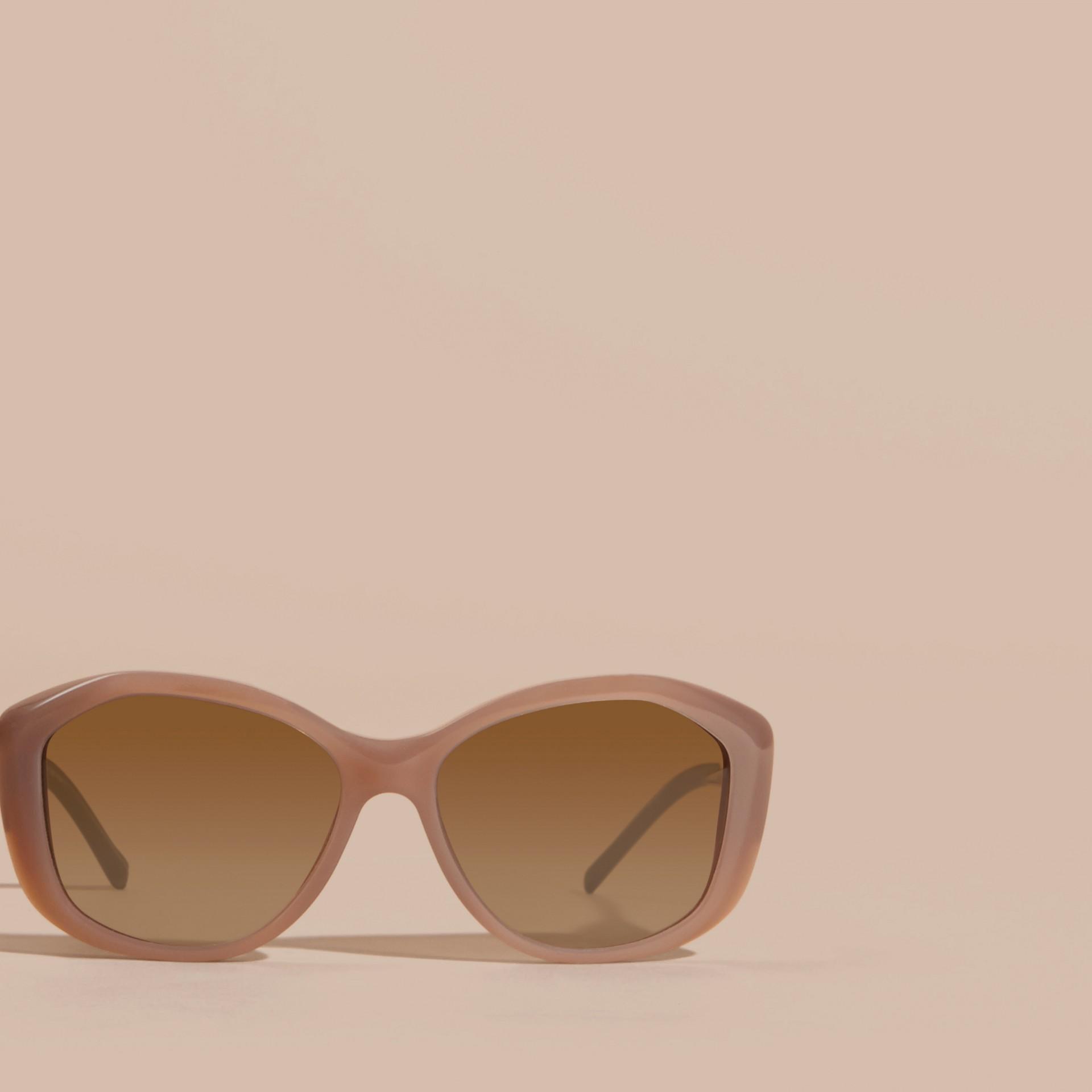 Opal melange Óculos de sol com armação quadrada da coleção Gabardine Lace Opal Melange - galeria de imagens 3