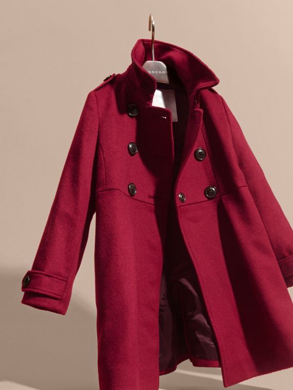 Cherry pink Cashmere Military Coat Cherry Pink - cell image 2