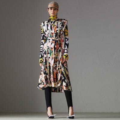 Graffiti Archive Scarf Print Silk Shirt Dress in Multicolour