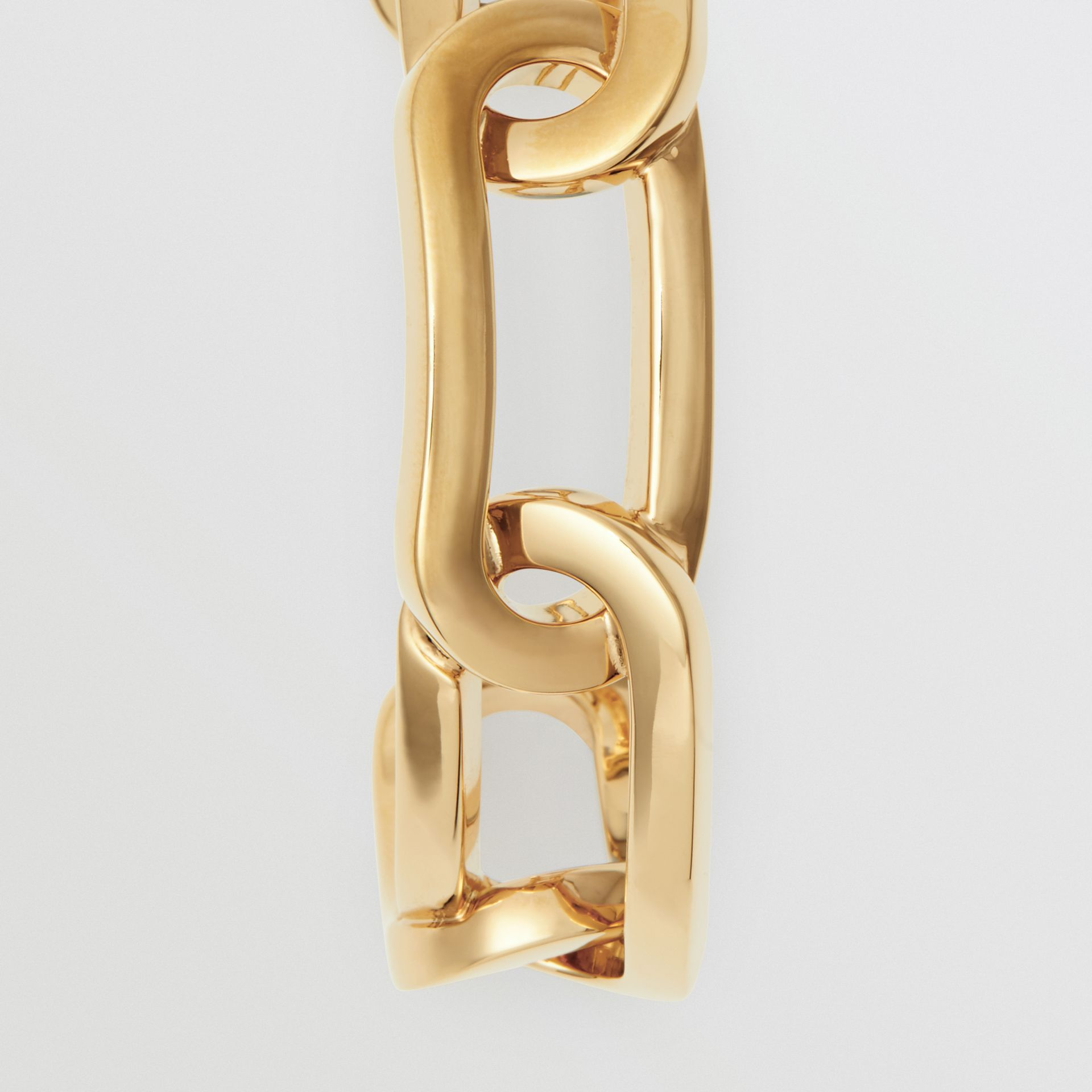 Gold-plated Link Cuff in Light - Women | Burberry - gallery image 3