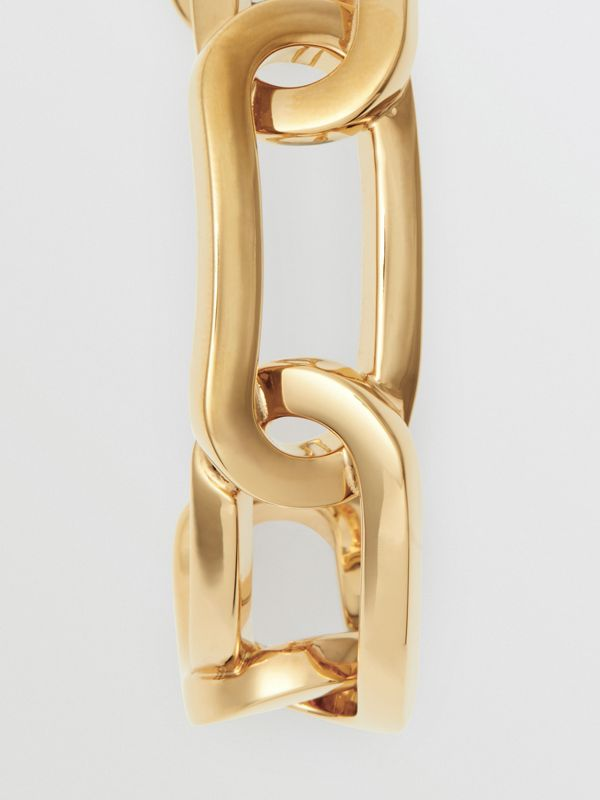 Gold-plated Link Cuff in Light - Women | Burberry - cell image 3