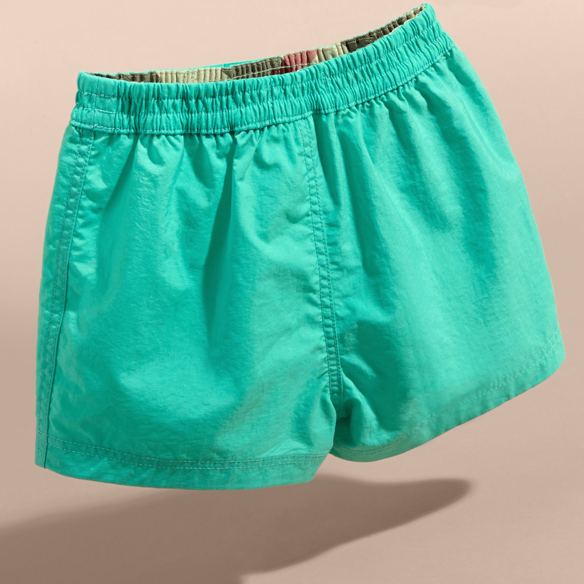 Quick-dry Swim Shorts in Aqua Green | Burberry - gallery image 4