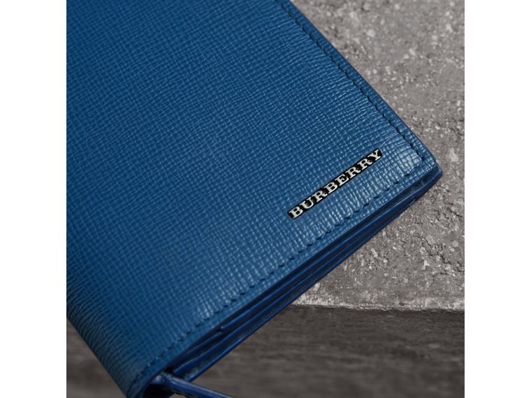 London Leather Continental Wallet in Deep Blue - Men | Burberry United States - cell image 1