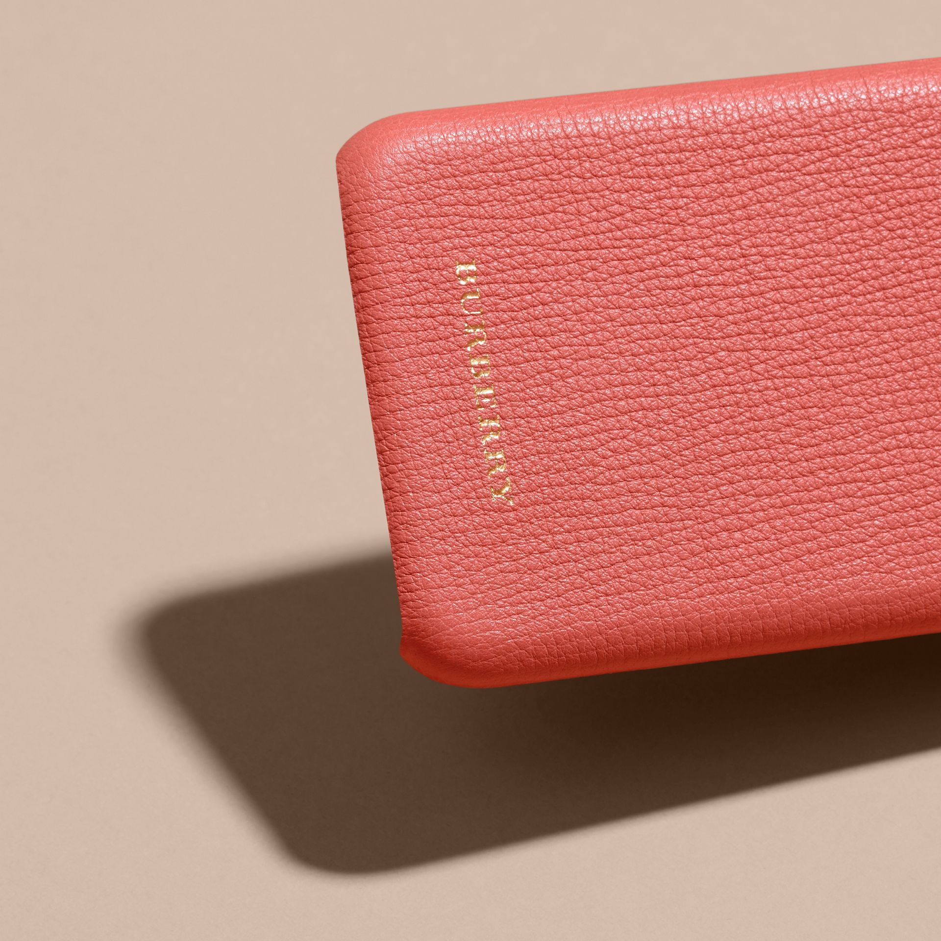 Grainy Leather iPhone 6 Case in Copper Pink - Women | Burberry - gallery image 2
