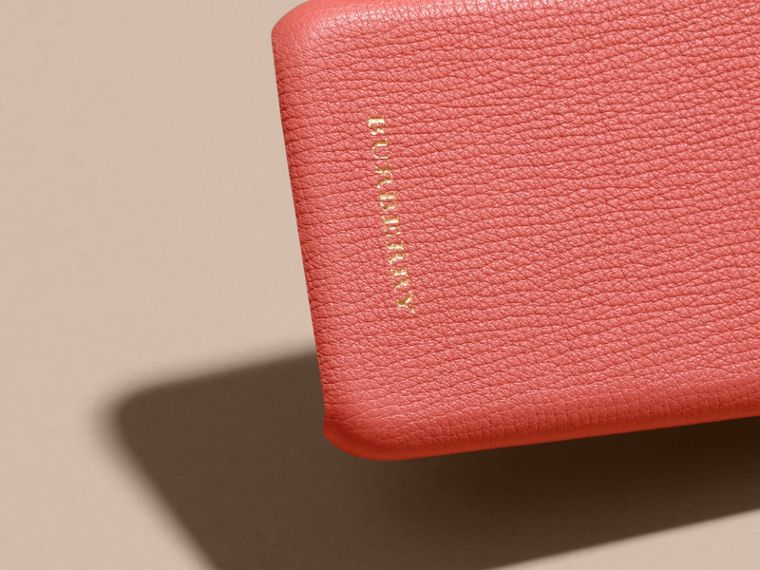 Grainy Leather iPhone 6 Case in Copper Pink - Women | Burberry - cell image 1