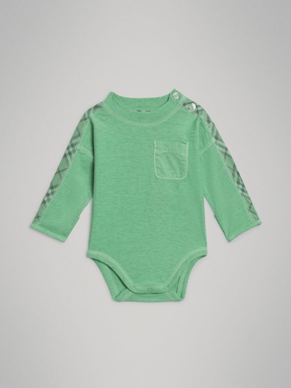 Check Cotton Three-piece Baby Gift Set in Multicolour - Children | Burberry - cell image 3