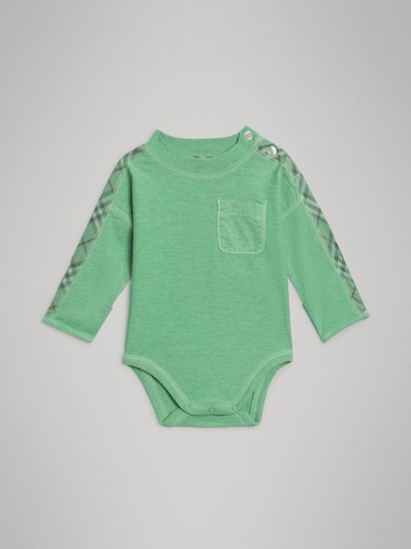 Gift set para bebê de três peças de algodão com detalhe xadrez (Multicolorido) - Crianças | Burberry - cell image 3