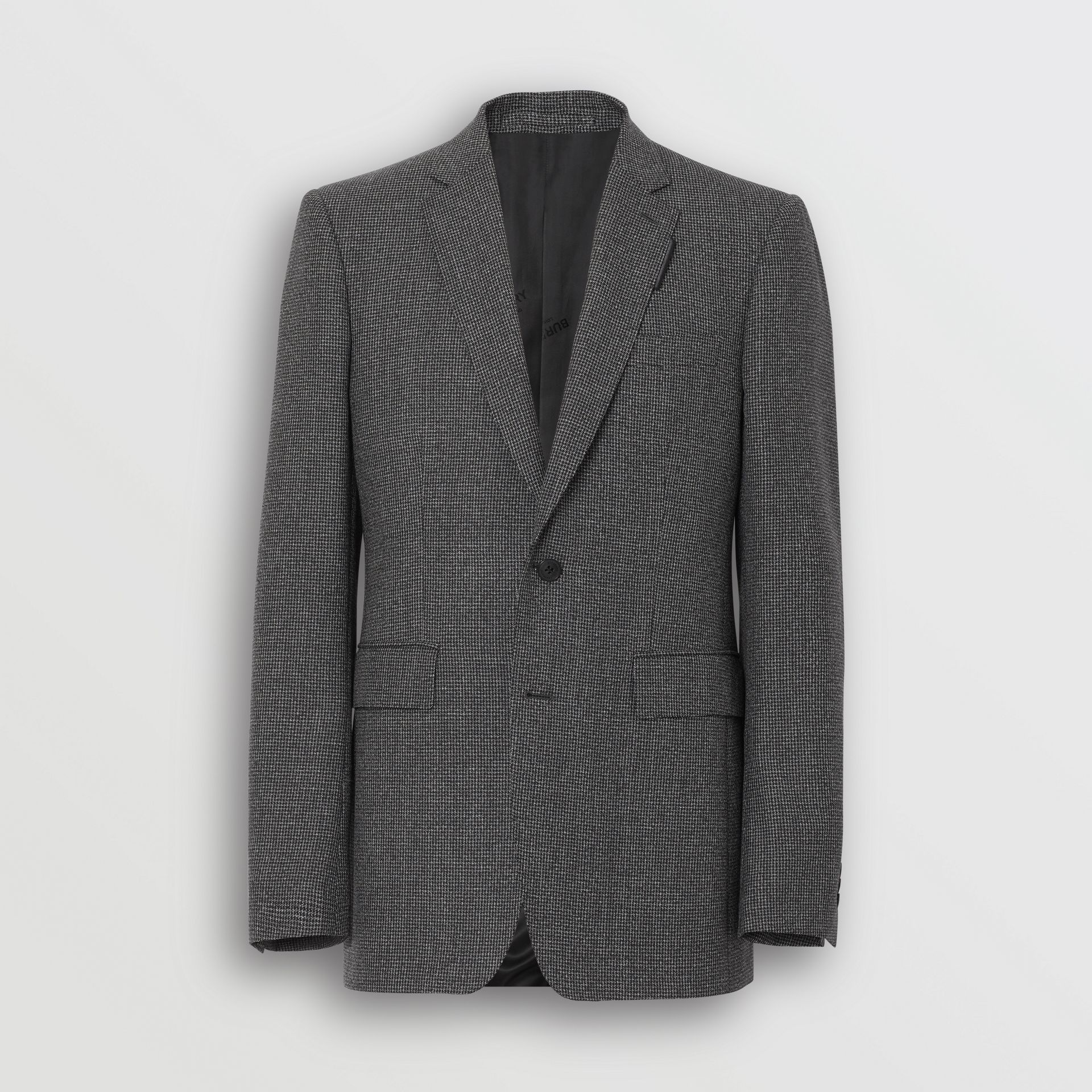 English Fit Puppytooth Check Wool Suit in Charcoal Melange - Men | Burberry - gallery image 2