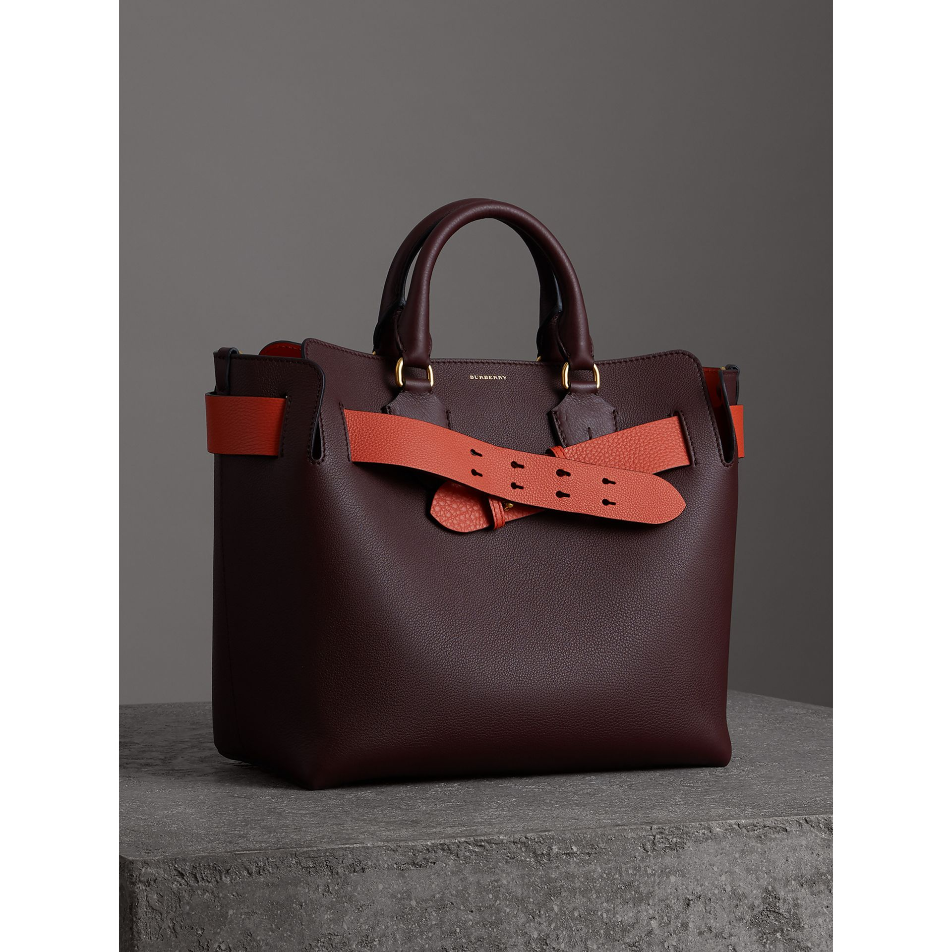 The Medium Leather Belt Bag in Deep Claret - Women | Burberry - gallery image 6