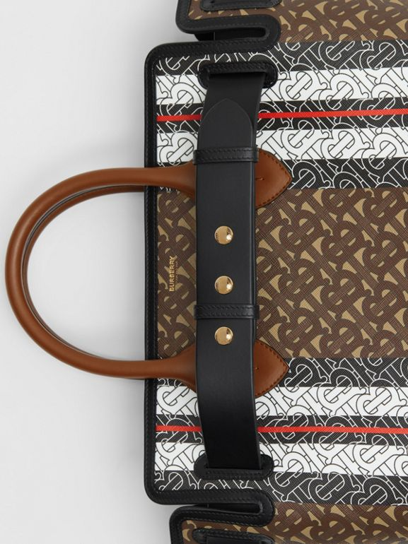 Borsa The Belt media in e-canvas con stampa monogramma a righe (Marrone Redini) - Donna | Burberry - cell image 1