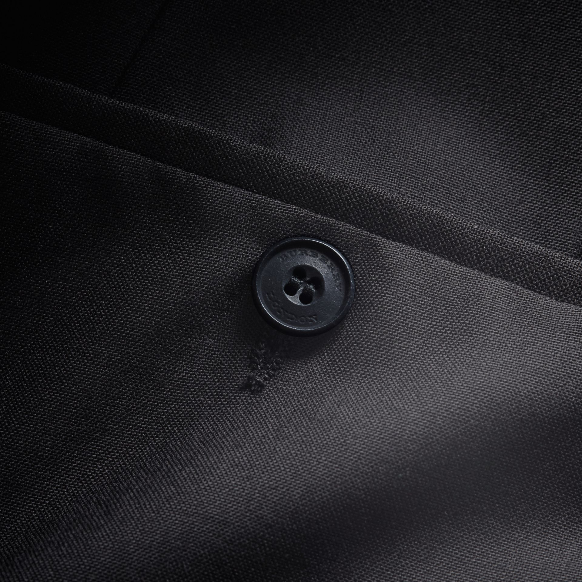 Modern Fit Wool Trousers in Black - Men | Burberry Hong Kong - gallery image 4