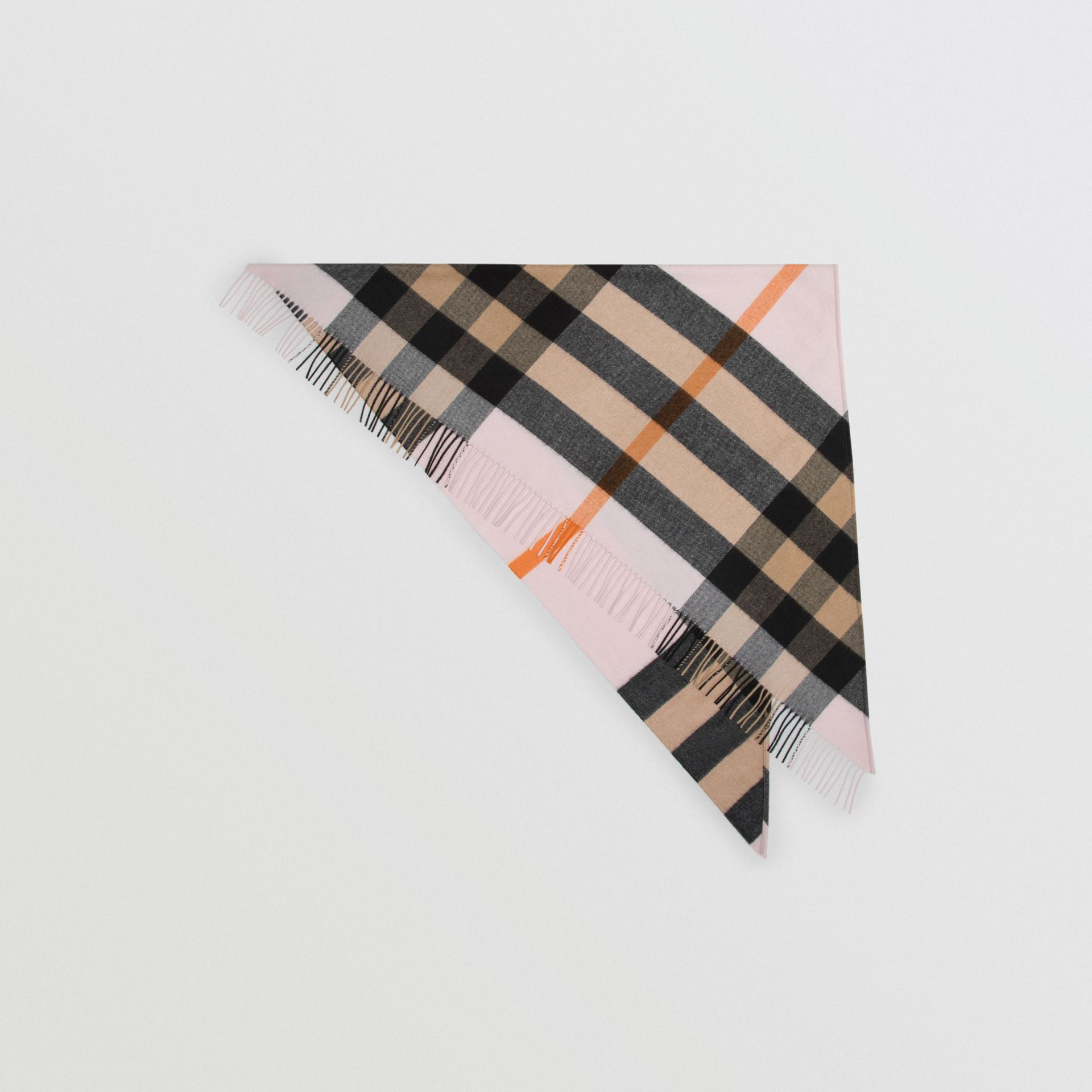 The Burberry Bandana in cashmere con motivo tartan (Pale Blossom) | Burberry - immagine della galleria 0
