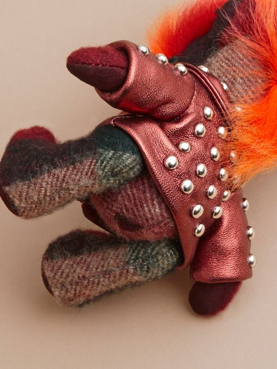 The Punk Thomas Bear Charm in Studded Lambskin Claret - cell image 3