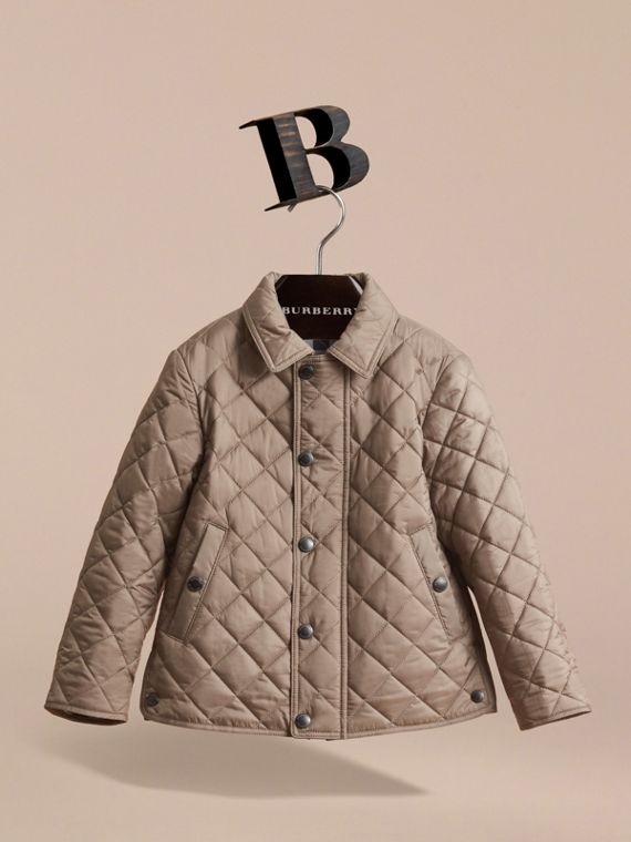 Diamond Quilted Jacket in Dark Mushroom - Boy | Burberry - cell image 2