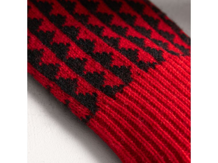 Geometric Wool Cashmere Patchwork Socks in Charcoal | Burberry - cell image 1