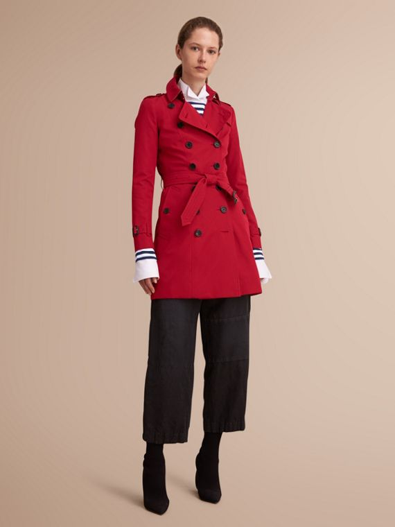 The Chelsea – Mid-length Heritage Trench Coat in Parade Red