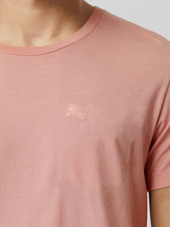 Cotton T-shirt in Chalk Pink - Men | Burberry - cell image 1