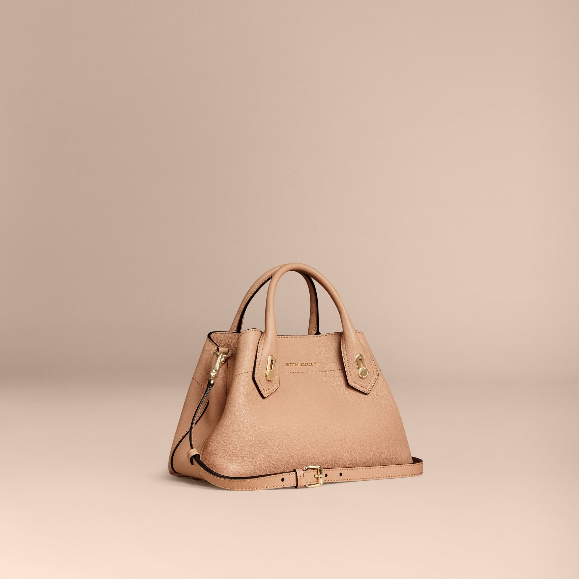 Pale apricot The Small Milton in Grainy Leather Pale Apricot - gallery image 1