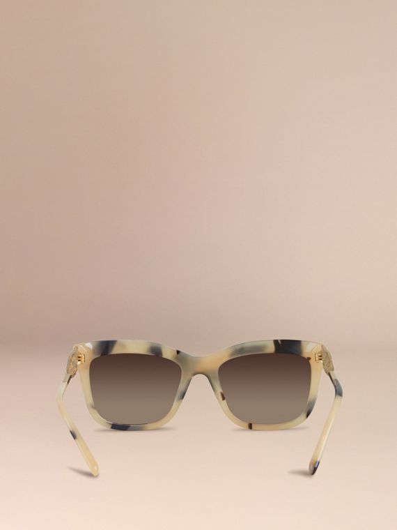 Mid tone horn Gabardine Lace Collection Square Frame Sunglasses Mid Tone Horn - cell image 3