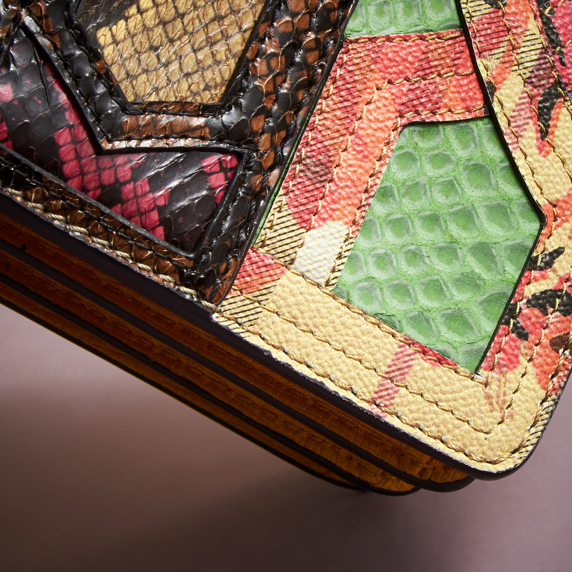 The Small Buckle Bag in Snakeskin and Floral Print - gallery image 5