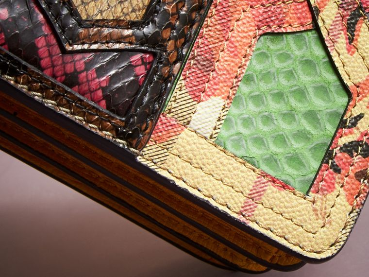 The Small Buckle Bag in Snakeskin and Floral Print - cell image 4