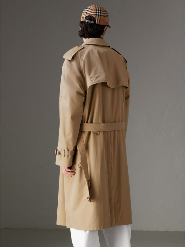 Trench coat en algodón de gabardina tropical (Miel) | Burberry - cell image 2