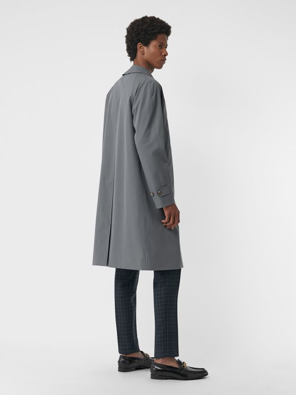 Archive Logo-lined Tropical Gabardine Car Coat in Dusty Blue - Men | Burberry Singapore - cell image 2