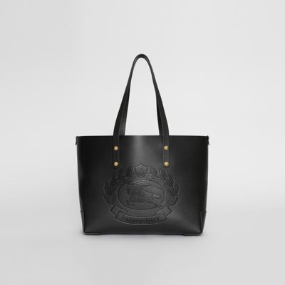 12e69be04523 BURBERRY. SMALL EMBOSSED CREST LEATHER TOTE