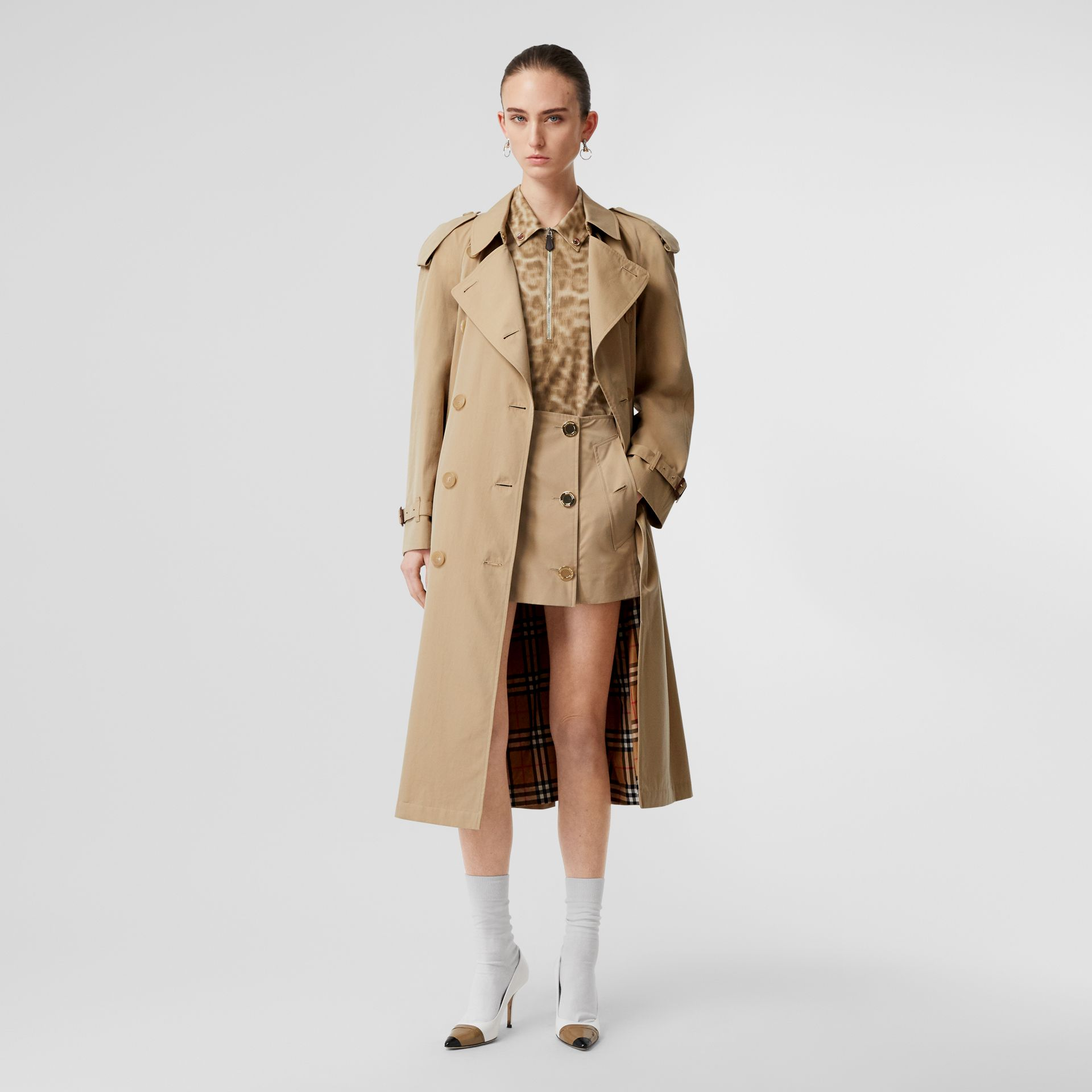 The Long Westminster Heritage Trench Coat in Honey - Women | Burberry - gallery image 0