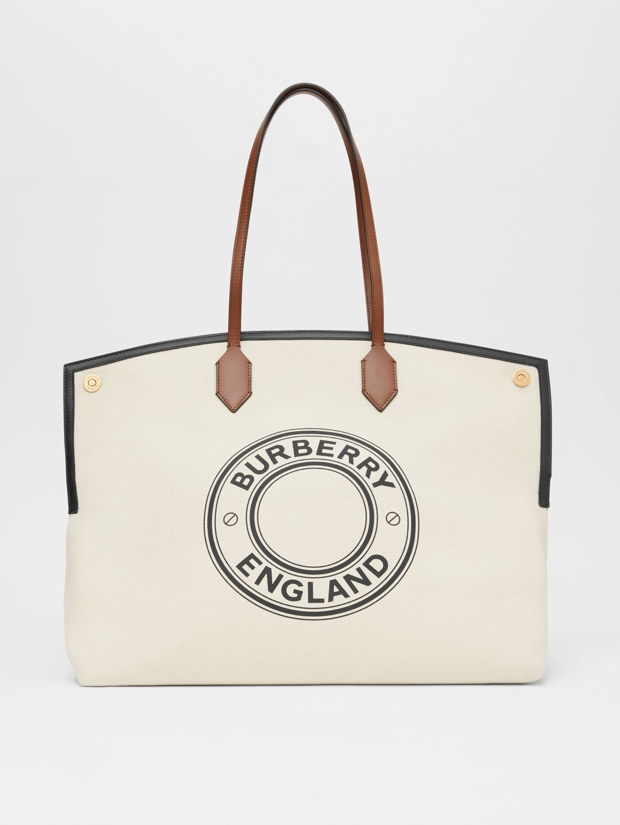 Logo Graphic Cotton Canvas Society Tote (Natural)