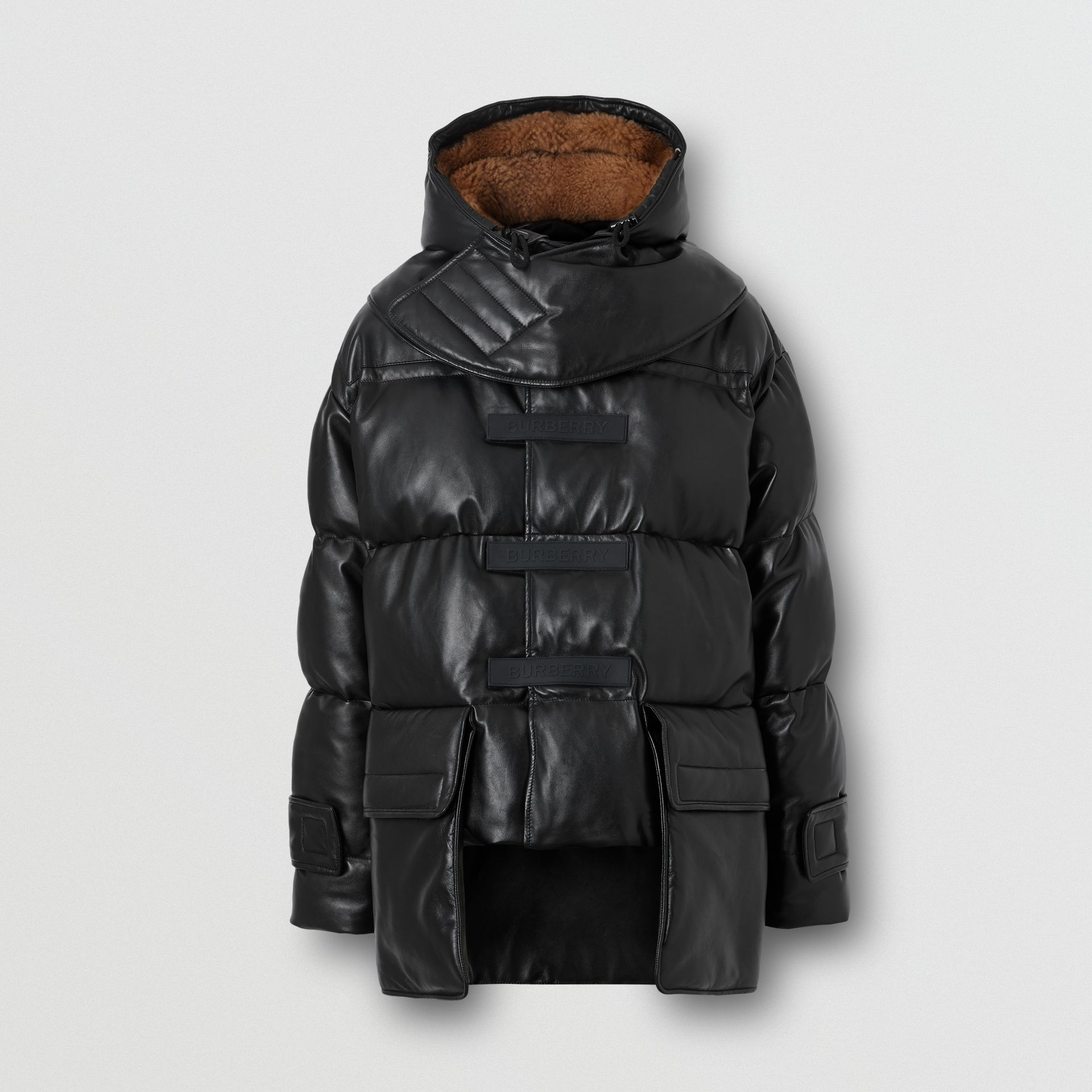 Plonge Lambskin Puffer Jacket in Black - Men | Burberry - gallery image 3