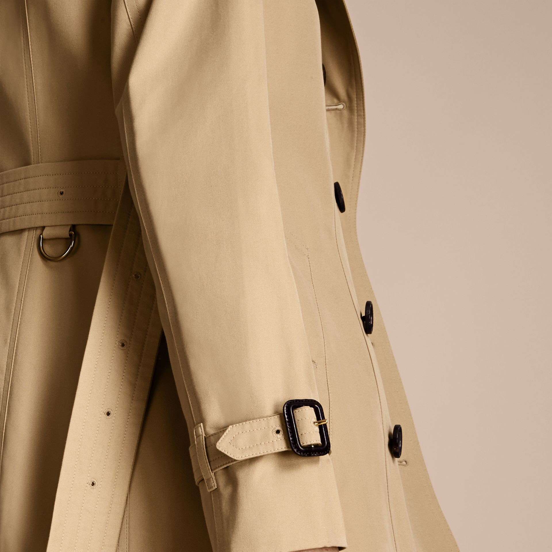 Honey The Sandringham – Long Heritage Trench Coat Honey - gallery image 7