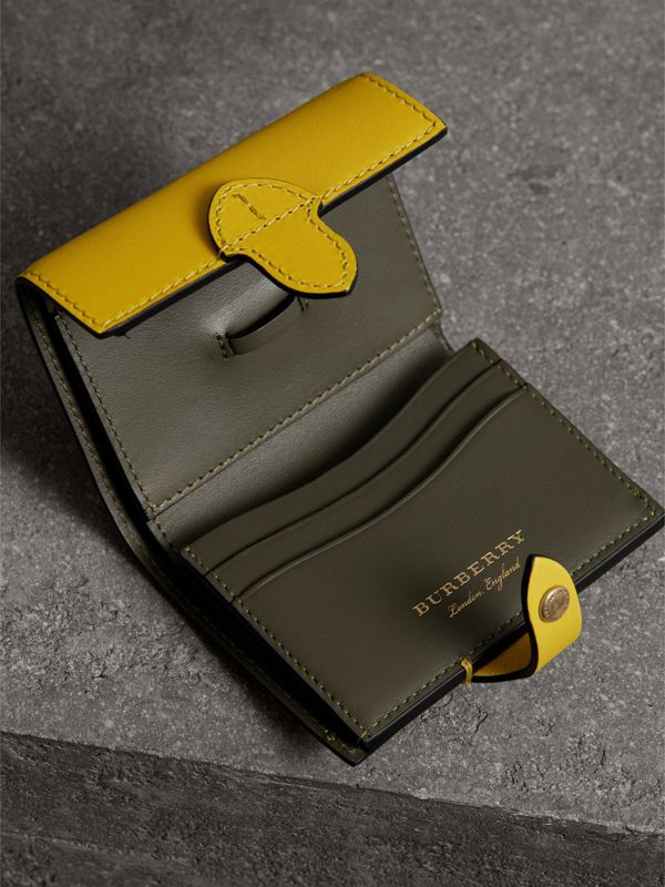 Equestrian Shield Leather Continental Wallet in Bright Larch Yellow - Women | Burberry United Kingdom - cell image 3